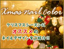 クリスマスネイルカラー